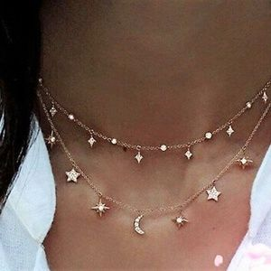 Jewelry - Celestial Rhinestone Choker Necklace